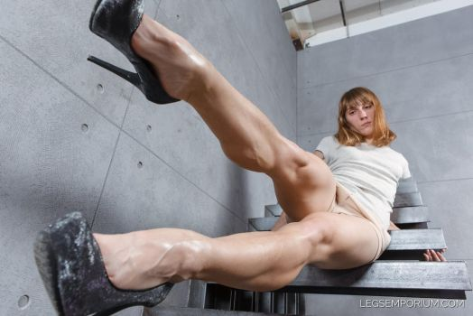 In Your Face with Maria Beautiful Legs - LE by LegsEmporium