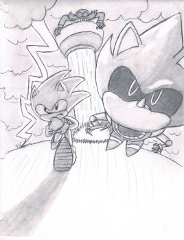 sonic racing metal sonic by Afrothunder678