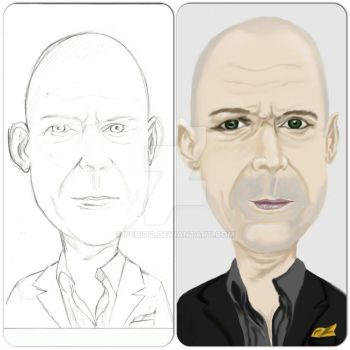 Bruce Willis Caricature by febito