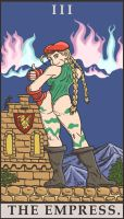 Street Fighter Tarot - The Empress by SayIanIanIan