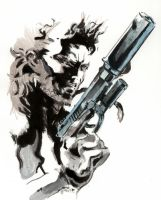 2008-03 Snake (from Metal Gear) by coued