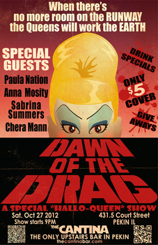 Dawn of the Drag: Drag show poster by DGGibbons