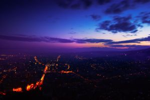 City after sunset I by maxdanger2