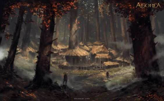 Forest Village by Nele-Diel