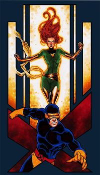 Uncanny X-Men Duos: Cyclops and Phoenix by studiomia