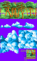 Sprites Forest and Clouds by NSMBXomega