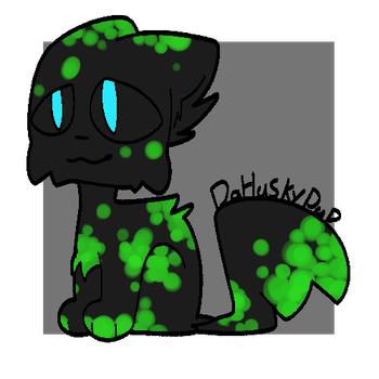 Green Glowing Machine|Characters|DaHuskyPup-Draws by DaHuskyPup-Draws