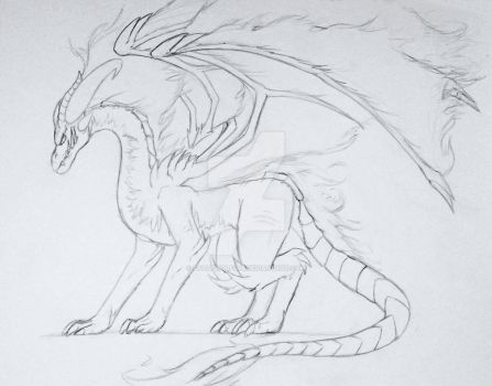 Shen'zon Tenebrae Dragon Form (Updated concept) by FrostWolf095