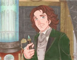 The Eighth Doctor in his TARDIS (Classic 8) by HavocGirl