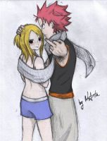 fairy tail:Natsu and Lucy by Elyata