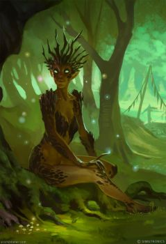 Dryad by sketcheth