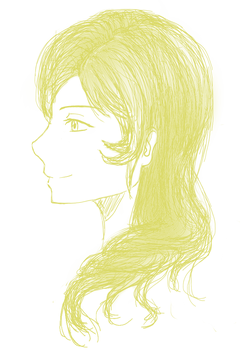 Mami-ish doodle, second try by DreamyPhantom