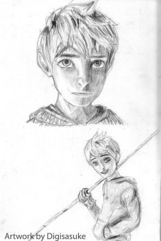 Jack Frost Led pencil drawing by Digisasuke