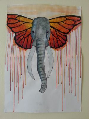 Red Elephant by PhittPineapple