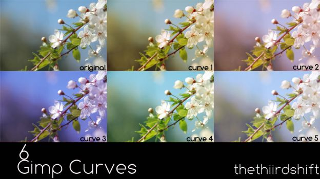 GIMP Curves - Set 1 by thethiirdshift