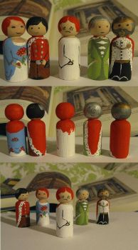 The Princess and the Pea dolls by Charis