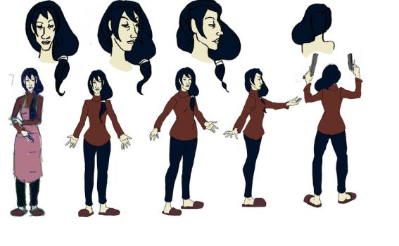 Character turn arounds_4 by Cuzzobuduzzo