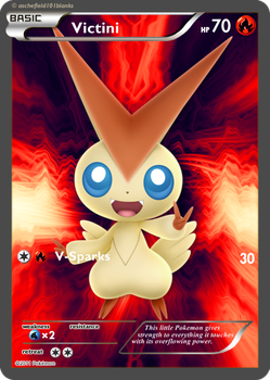 Mystic Forces Set - SR-Victini 001/197 by Applenix