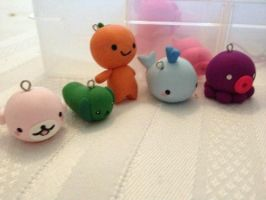 Polymer Clay Charms by Fluffybunnycharms