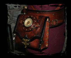 steampunk belt utility, pouch by Lagueuse