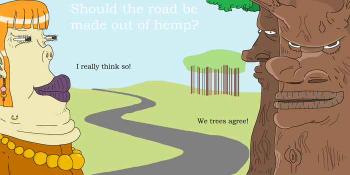 Roads made out of hemp? by Sikojensika