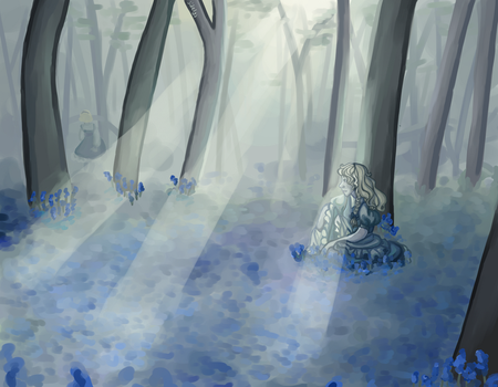 Bluebell Wood by sidelys