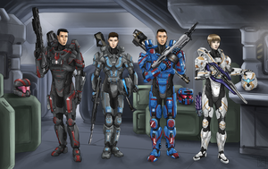 Fireteam Crimson (Commission) by The-Chronothaur