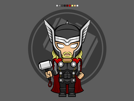 #4 Thor | Avengers Vector by rousanilmy