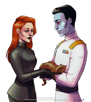 Jarae and Thrawn by SpacelingArt