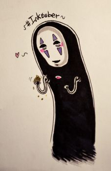 Inktober No Face by AkiraHajime