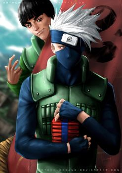 Hatake Kakashi + Might Guy by ChloeKang