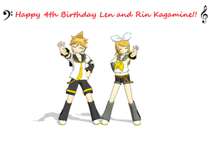 Vocaloid: Happy Birthday Len and Rin Kagamine by Yaoi0Yuri0rules