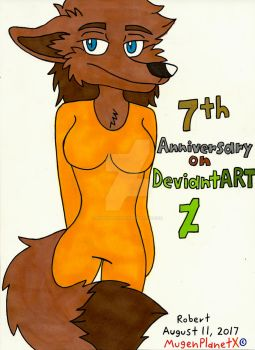 7th Anniversary on DeviantART by MugenPlanetX