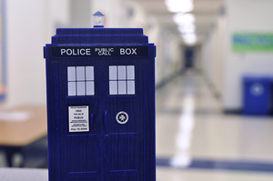 TARDIS in the hall by WaywardPhotography