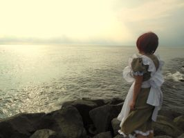 Waiting... for the boss . - Lovino Vargas (APH) by mory-chan