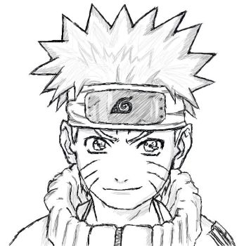 Naruto random tablet sketch by Mei-Ling