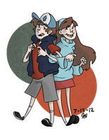 Dipper and Mabel Pines by Camilleonn