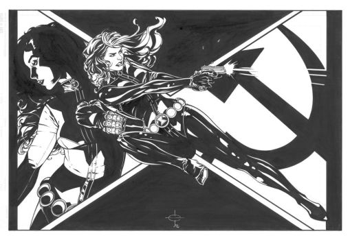Black Widow Commission by DrewEdwardJohnson