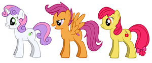 Cutie Mark Crusaders Grown Up by acornheart465