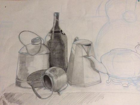Still Life of objects by Mia-Oneill