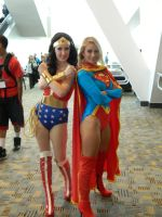 Wonder Woman and Super Girl by OtakuUnited