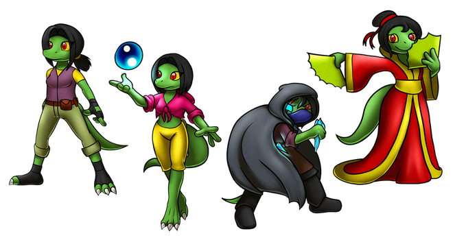 the many outfits of Zerra by ErnestoGP