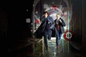Sherlock and Watson Running by Randomforestlady