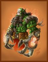 Orc Fighter by DOUGLASDRACO