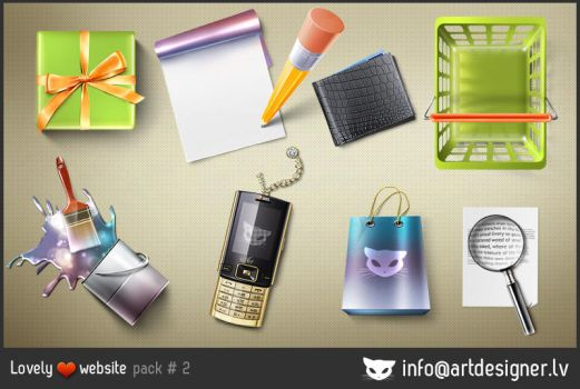Lovely website icons pack 2 by lazymau