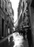 Rome I - A Narrow Street by FuryThames