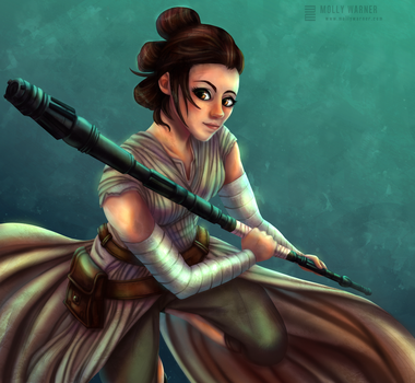 Rey (Star Wars) by SilverSkittle