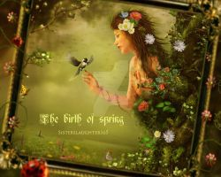 The birth of spring by Sisterslaughter165