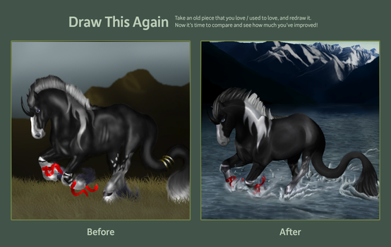 draw this again challenge by Delumier