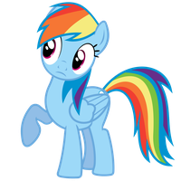 Rainbow Dash Vector - Wut? No lunch provided? by Anxet